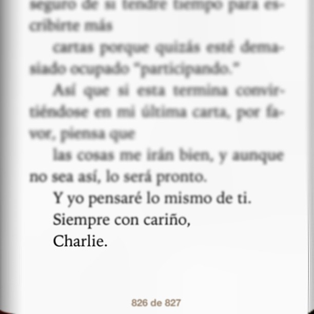 Love always #Charlie #TPOBAW #wallflower #ibooks #theend #infinite #Sam #patrick #spoiler