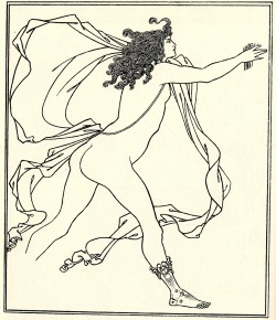 Aubrey Beardsley Apollo Pursuing Daphne c.1896