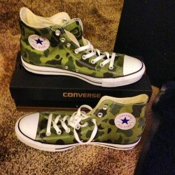 2 of 2 first pair of #chucks so I had to go with the camo