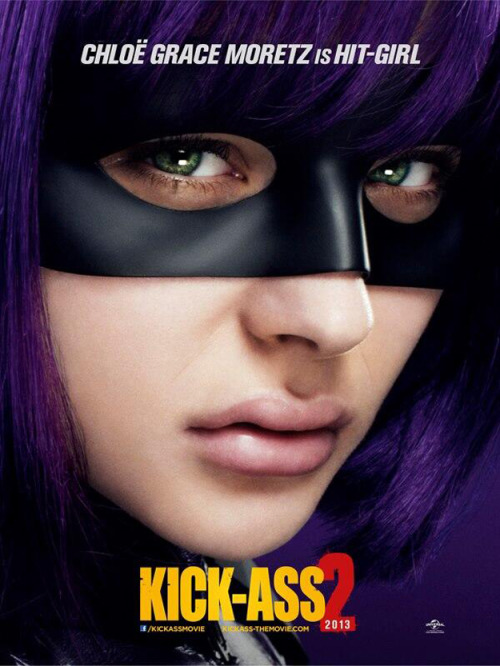 suicideblonde:  Chloe Moretz's Hit-Girl Gets a New Kick-Ass 2 Poster