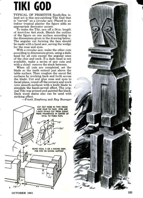 Tiki God ~Popular Mechanics 1961