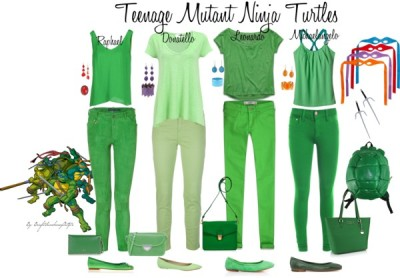 Teenage Mutant Ninja Turtles by brightsunshineyoutfits featuring striped tops