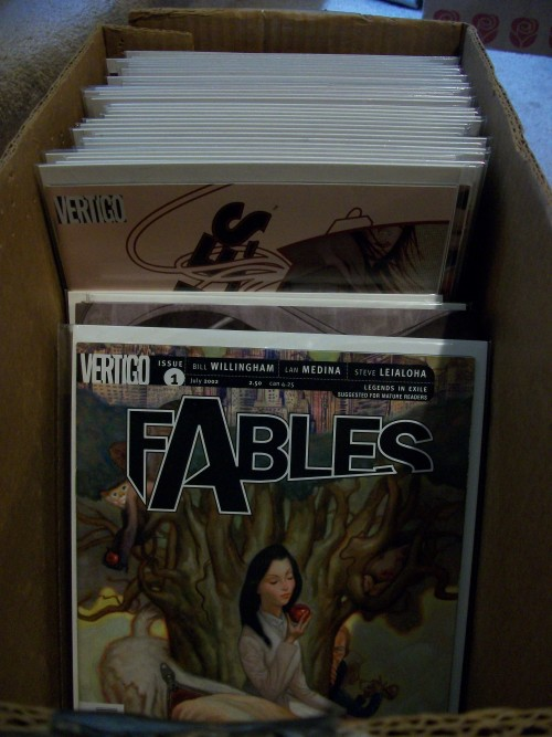 Started my re-read of Fables today. So gewd. :3