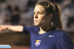 Kelley O'Hara scored twice to help lift Sky Blue FC over the Boston Breakers. [Photo copyright Meg Linehan for The Equalizer.]
