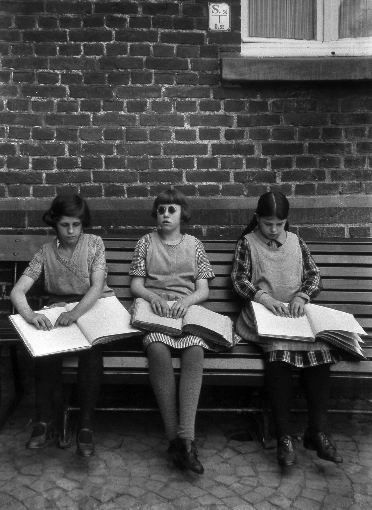 Blind Children Reading Books August Sander