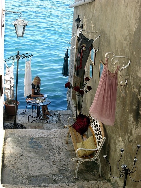 Seaside, Rovinj, Croatia photo via chastity