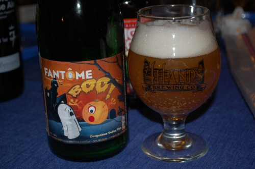 4 Hands Brewing snifter with a truly terrible bottle of Fantome  GLASSWHALES!