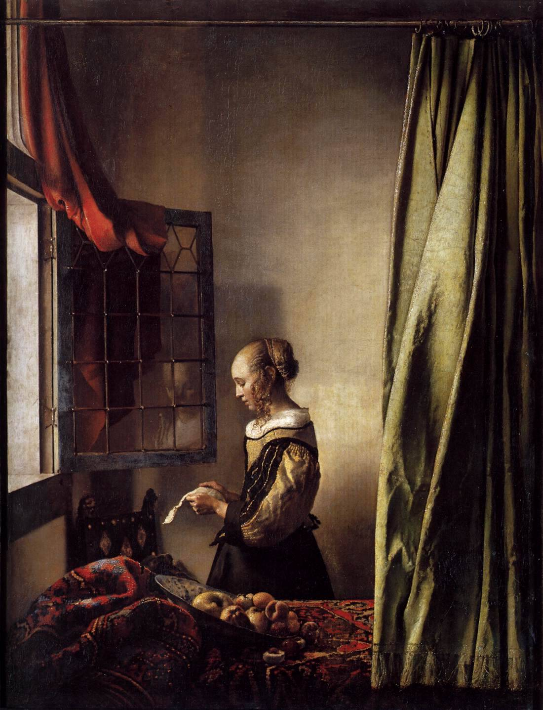 theartistsmanifesto:  Jan Vermeer's Girl Reading a Letter at an Open Window, 1659, oil on canvas.