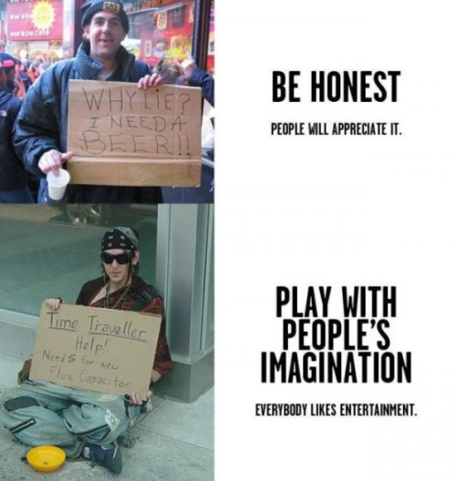 Picture Guide For Making Perfect Homeless Signs [Click for more] Not bad for a get rick quick scheme.