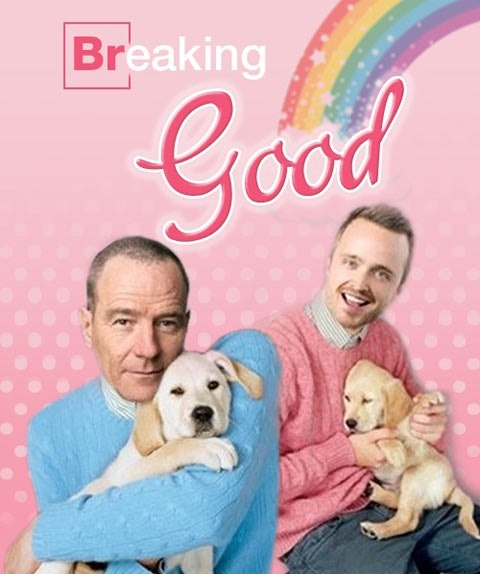 flavorpill:  crushabledotcom:  Breaking Good.  SNUGGLES!