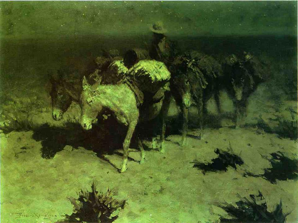 Frederic Sackrider Remington (1861 – 1909)  American painter, etcher, illustrator, sculptor, and writer who specialized in depictions of the Old American West. Thanks to adrianxxx777