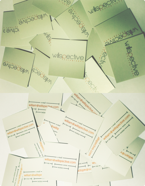 business cards. :D
