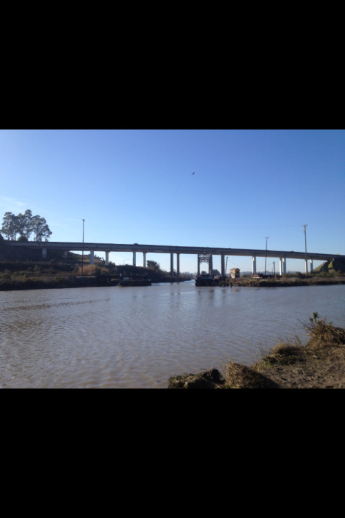 The Petaluma Bridge #PetalumaRiver #Bridge #NorthernCalifornia #California #River #Sky