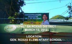 """EPAL"" SA ROXAS DISTRICT, QUEZON CITY. GRADUATION TIME SO ITS EPAL TIME FOR THESE EPAL POLITICIANS."
