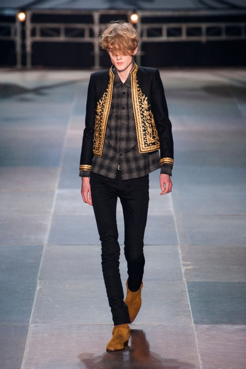 derriuspierre:  Paris Fashion Week: Saint Laurent Fall/Winter 2013   Jacket.