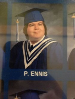 collegehumor:  P. Ennis Unfortunate Yearbook Name  A regular target of local bully, Derrick Ouchébag.