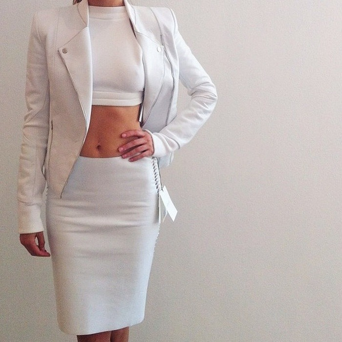 what-do-i-wear:  all white dion lee (image: desordre)
