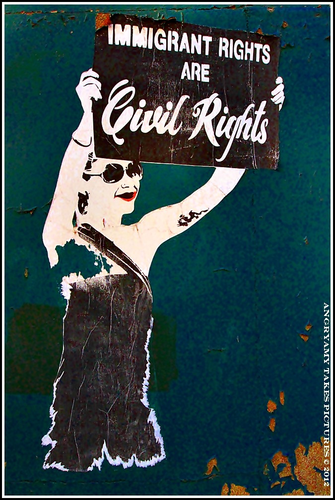 angryamytakespictures:  Immigrant Rights Wall Art- Detroit, MI 2012