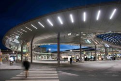 Photo: Graz Main Station Local Transport Hub by Zechner & Zechner. 2012.