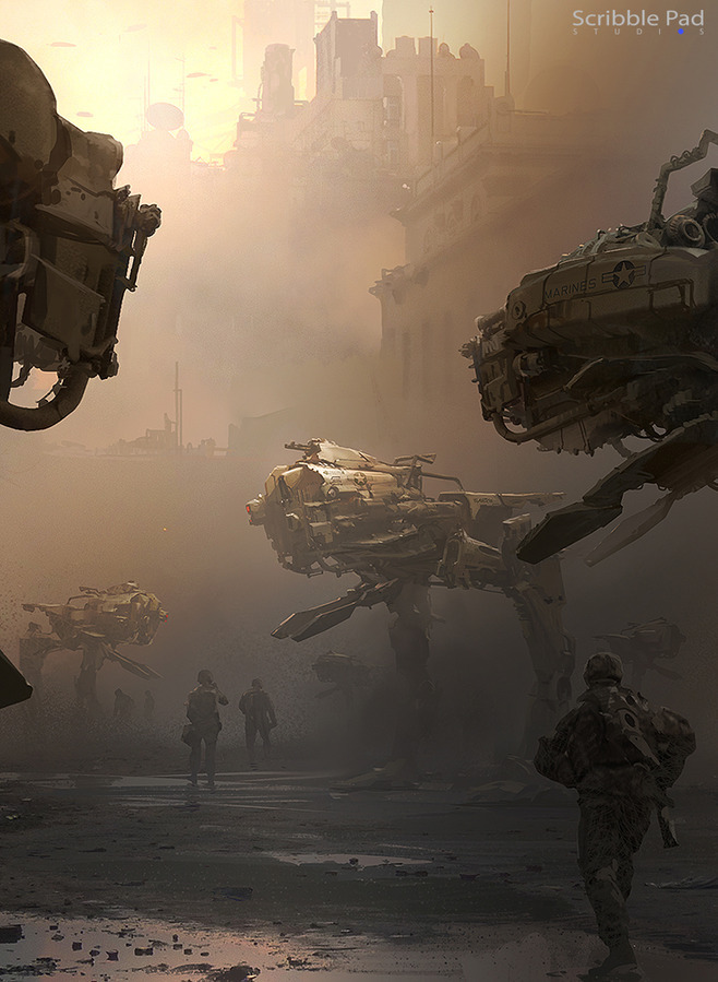 Mech Concept Art, by James Paick.