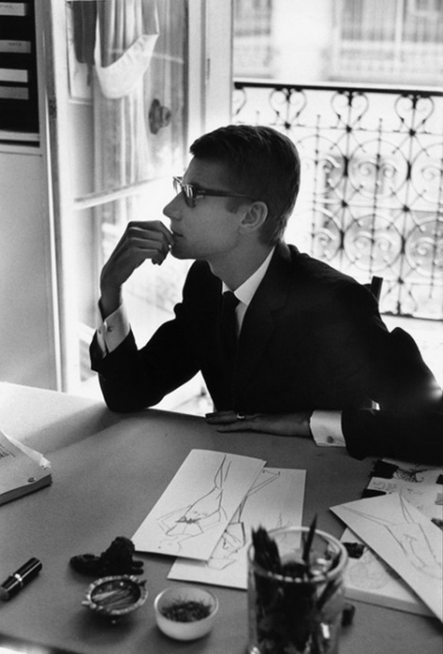 artruby:  Marc Riboud, Yves Saint-Laurent, France, (1964)  I saw this and I thought of my friend JM. style, face, composure, class.