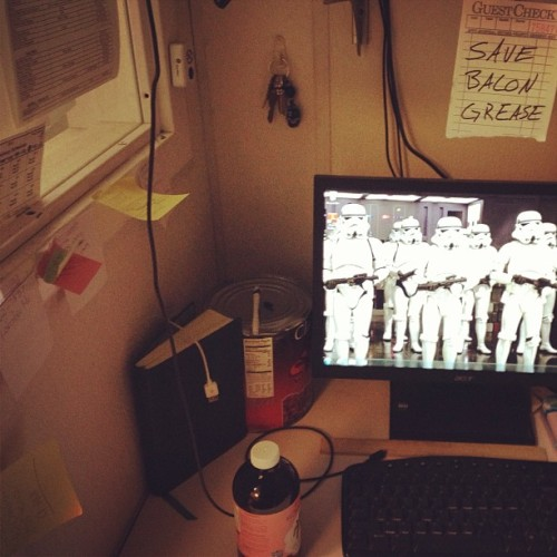 #savebacongrease #pov #work #starwars #lifestream  (at PBR Rock Bar & Grill)