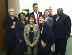GSA Network staff and local GSA activists met Rep. Mark Takano, the first GSA advisor and LGBT person of color elected to Congress!