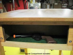 Secret gun compartment furniture - end table