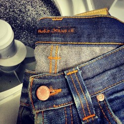 Washing my @nudiejeans Svens for the third time. #denim