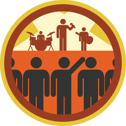 lifescouts:  Lifescouts: Concert Badge If you have this badge, reblog it and share your story! Look through the notes to read other people's stories. Click here to buy this badge physically (ships worldwide). Lifescouts is a badge-collecting community of people who share their real-world experiences.