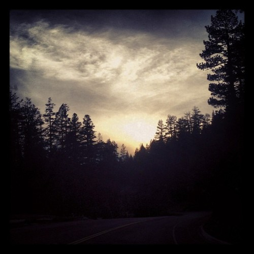 Sunset in the sierras. #sunset #trees #ontheroad #california #sierras #nature #natureisbeauty #getoutside  #mountains  (at Christmas Valley, CA)