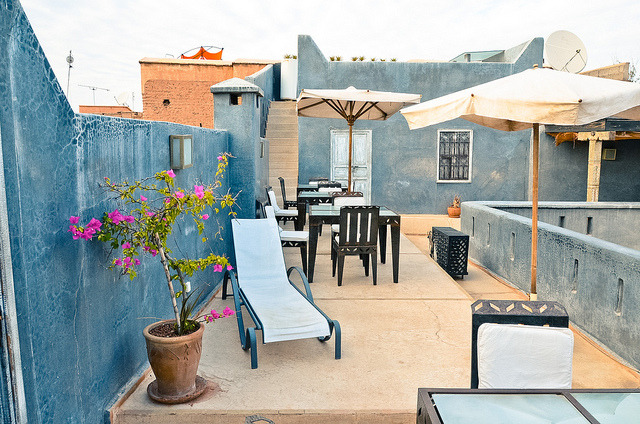| ♕ |  Moroccan terrace - Riad Alamir in Marrakech  | by © Audrey