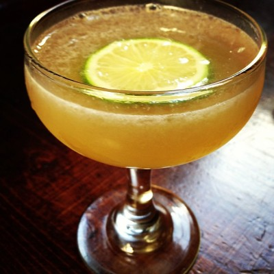 Smoked Daiquiri apple wood smoked flor de Cana rum, smoked Demerara sugar and lime #rubirosaspecials  (at Rubirosa)