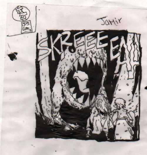 fleisherkidscomics:  Jamir inks some Jeff Smith Bone