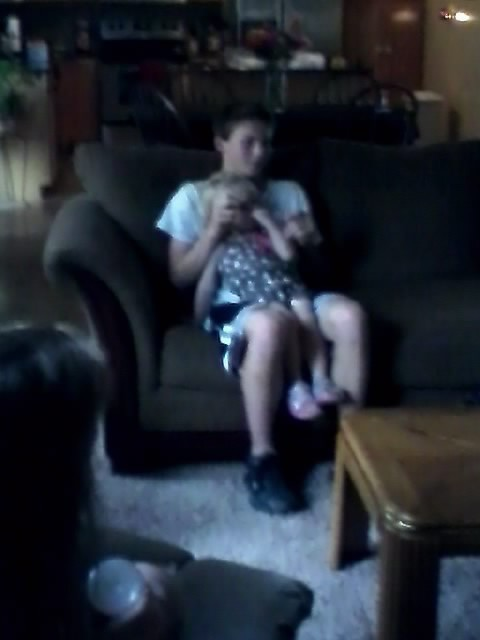 This is my ex boyfriend with my little sister. This was last summer. Almost a year ago today. We only dated for 3 months during the summer. So why am I not over him yet? He's all I can think about lately and I know it's not healthy for me to still be hung up on him. But all I can think is how happy he made me. And how it would feel to kiss him one last time.