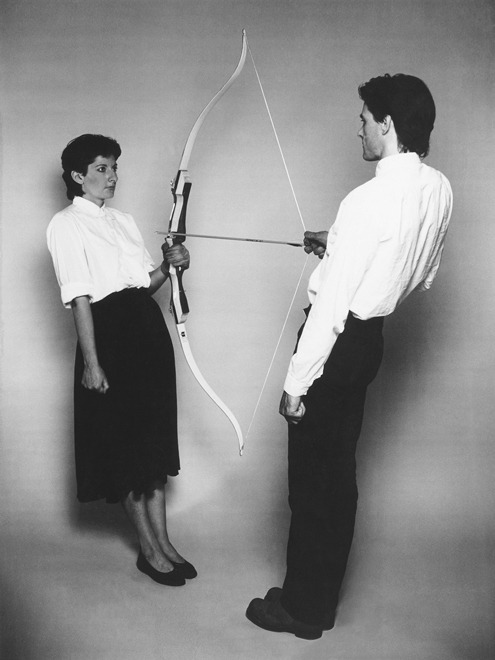 Marina Abramović, Rest Energy with Ulay, 1980.