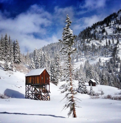cabinporn:  Abandoned cabin built for significant snowfall outside Silverton, Colorado. Contributed by Scott Shondeck