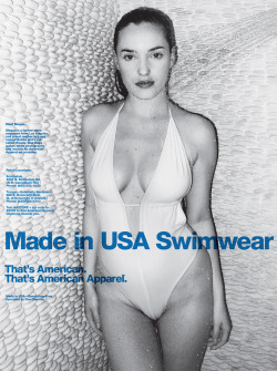 americanapparel:  Made in the USA Swimwear. That's American. That's American Apparel.