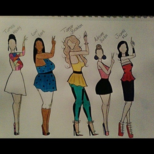 The Cast of (The Real) TV Show #thereal #therealdaytimetv #tamartians #tamartianfriends #fashion #fashionillustrator #fashionillustration
