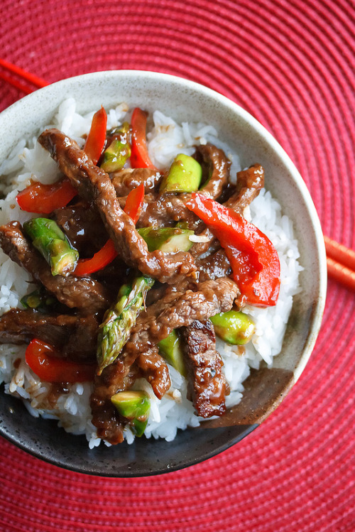 Beef and Asparagus Stir Fry by Crumb