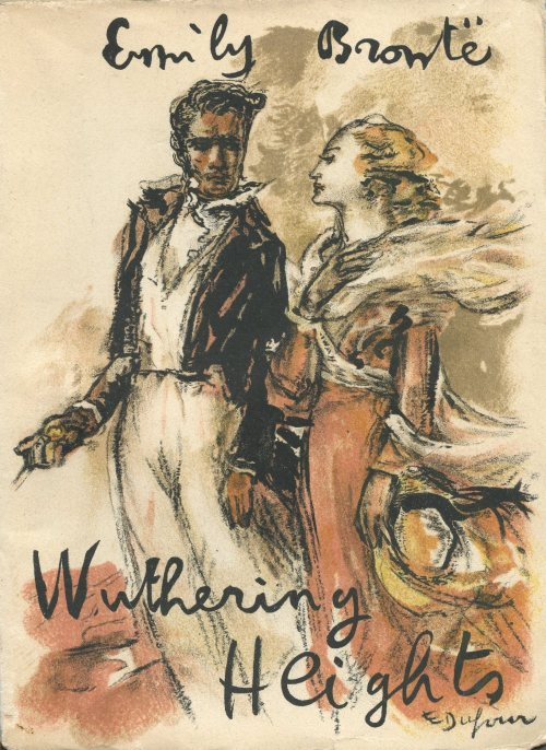 dahlia-coccinea:A French edition of Wuthering Heights printed in 1948. Cover art by Emilien Dufour.