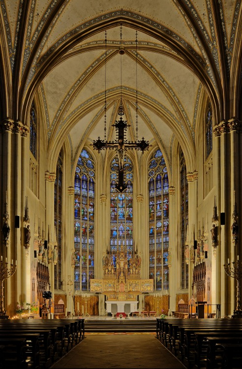 Sanctuary of Saint Ludgerus Priory Church in Billerbeck, North Rhine-Westphalia, Germany
