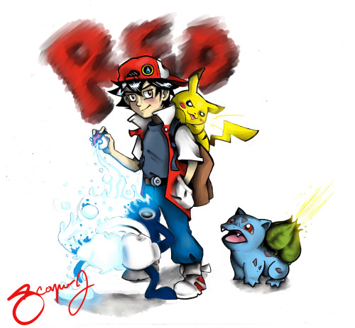 the8thhouse:  Trainer red I made, based him off of the original designs, so dont get too upset if he looks abit like ash.