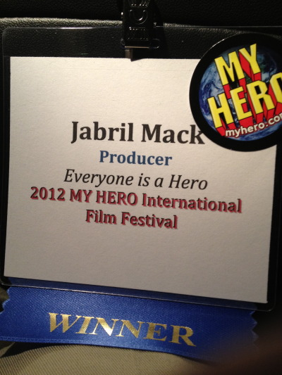 "Hurray! ""Everyone is a Hero"" was screened as apart of the My Hero International Film Festival, a couple weeks ago! It is a great honor to have something I worked on be part of a collection of such positive and uplifting films!  Props to all the winners!"