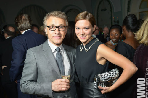 womensweardaily:  Stars Align at Charles Finch Dinner Christoph Waltz And Lea Seydoux