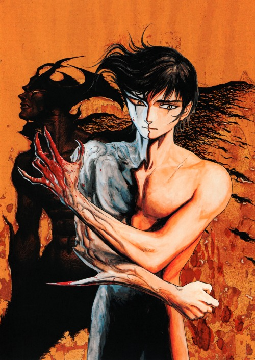 northstarblog:  saktiphoenix:  Devilman (デビルマン)  This is by Parasyte's Hitoshi Iwaaki, right?