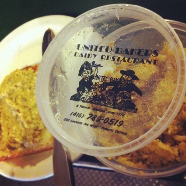 A rare treat: Vegetarian liver from United Bakers.