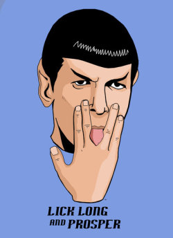 spockuhura-is-flawless:  Lick Long and Prosper by ~HeroforPain I am trying NOT to think of a Spock/Uhura fic around this. I'm failing so hard.