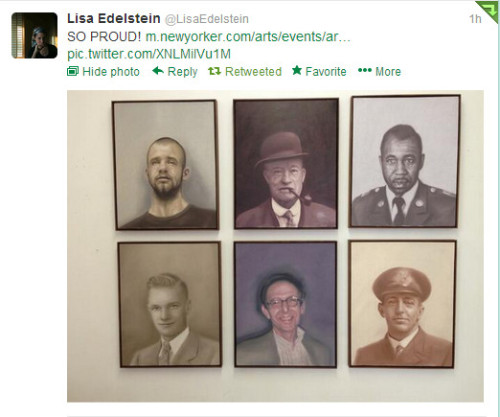 Lisa tweeted about Robert Russell show in NYC :)