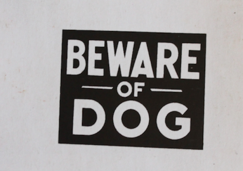 Warhol's Warning Beware of Dog—created by Andy Warhol in 1983.